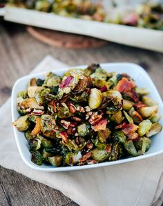 Roasted Maple Bacon Brussels Sprouts | Henry Happened