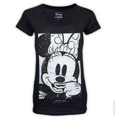 mehr von Eleven Paris Placeholder T-Shirt MINNIE Placeholder Legeres Kurzarm-Shirt mit Minnie Mouse Motiv im Vintage Look.      kurze Ärmel     weiter Ausschnitt     boxy fit - sitzt locker     elastisch     weicher Griff     Farbe: schwarz