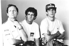 Ron Dennis, Alain Prost, Ayrton Senna