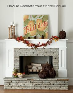 Try adding a warm touch to the crisp, cool Fall nights around the fireplace.  Let us show you (step by step) how to create Autumn...