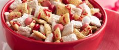 Red, white and pink make a lovely Chex® mix, especially when it's ready in just 30 minutes!