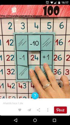 100er Tafel Beziehungen - Klappkarte, +-1,+-10