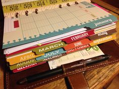 These dividers can easily be made by tracing the ones that come with the planner.  Good Ideas!!