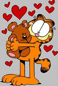 Garfield n Pooky Garfield Quotes, Garfield Cartoon, Garfield And Odie, Garfield Comics, Comic Cat, Garfield Wallpaper, Garfield Pictures, Cross Stitch Games, Sad Wallpaper