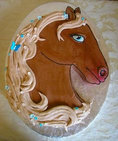 Horse Cake --- Love this! Now I just need to figure out how to get this template so I can make it!