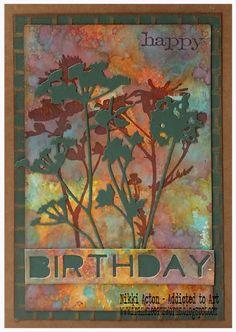 Distress Oxide and Wildflower Birthday Cards - Nikki Acton