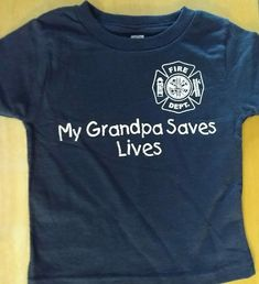 aecc4b97 MY GRANDPA SAVES LIVES with Maltese Cross - Child's Fire Department T-Shirt  #Gildan #Everyday