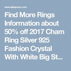 Find More Rings Information about 50% off 2017 Cham Ring Silver 925 Fashion Crystal With White Big Stone Rainbow Mystic Rings Women Bridal Wedding Jewelry J510,High Quality ring silver,China ring silver 925 Suppliers, Cheap fashion rings women from Almei Jewelry Store on Aliexpress.com