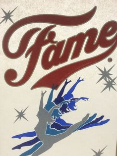 Original Vintage 1980s Iron-on FAME T-Shirt TRANSFER Iconic 80s Dancing Graphic 1982