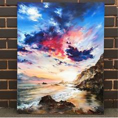 What is Your Painting Style? How do you find your own painting style? What is your painting style? Mini Canvas Art, Pastel Art, Acrylic Art, Artist Art, Art Inspo, Watercolor Paintings, Art Paintings, Sky Painting, Creative Art