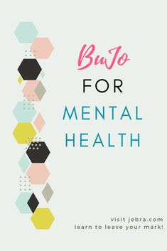 Bullet journal = Pen and paper therapy. Boost your mental health and self-care with a bujo.