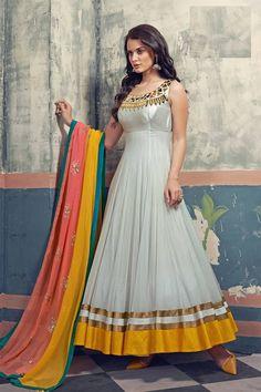Anarkali Salwar Kameez Online at Mirraw.com