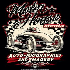 """Motor House Media"" - belly tank T-shirt logo #MotorHouseMedia #bellytank #streamliner #drylakes #Tshirt #artwork"