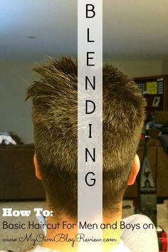 How To Cut Men's Hair // Basic Haircut For Men and Boys on embellishmints.com