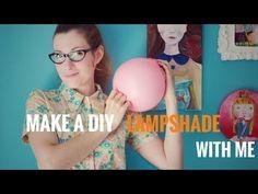 Πώς να Φτιάξετε ένα Φωτιστικό από Εφημερίδες Χαρτοπολτό - Diy Paper Macher Lampshade - YouTube
