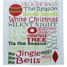 Reason To Tis The Season Shower Curtain - Xmas ChristmasEve Christmas Eve Christmas merry xmas family kids gifts holidays Santa