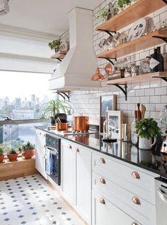 Cozinha em estilo parisiense, com um toque industrial - Decoração e Ideias