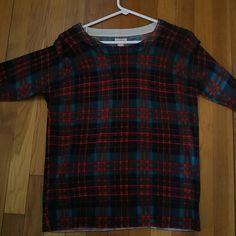 Jcrew Tartan Plaid Sweater Like New, very light. J. Crew Sweaters Crew & Scoop Necks