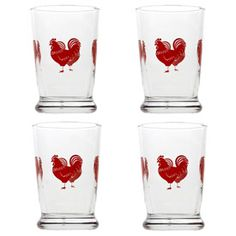 To myself. To take care of both my glassware and my rooster obsessions.