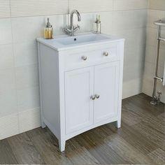 Camberley White 600 Door Unit & Basin | VictoriaPlum.com