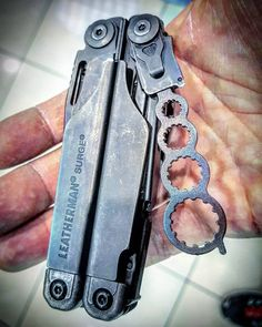 Leatherman Surge with Melon Tool Tactical Equipment, Survival Equipment, Survival Tools, Cool Knives, Knives And Tools, Edc Gadgets, Bushcraft Gear, Edc Tools, Edc Gear
