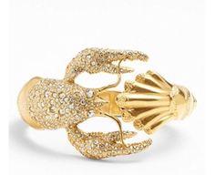 Alexis Bittar Crystal Encrusted Lobster Hinge Gold Bracelet $295 00 | eBay