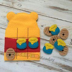 Honey Bear Tic Tac Toe Tic Tac Toe Travel Game by SugarPlumMonkey, $13.00