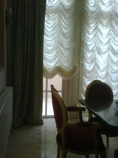 Beautiful Festoon Curtains with trims. by Decorate my room