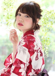 ボブ浴衣アレンジ 【K-two 青山】 http://beautynavi.woman.excite.co.jp/salon/21822 ≪arrange・hairstyle・アレンジ・ヘアスタイル≫