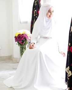 White bridal gown #sadaswedding