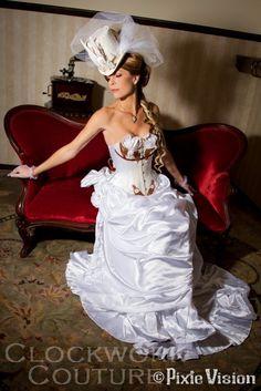 Steampunk Wedding Ensemble - Wedding - Steampunk - lol too much??