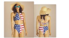 American Flag Bikini,Flag bikini top,Patriotic,4th July,High cut,Thong,Sexy,High neck,Bikini top Strappy Bikini Top, Black Bikini Bottoms, Bikini Tops, Halter Bikini, Thong Bikini, American Flag Bikini, Beautiful Suit, Plus Size Swimsuits