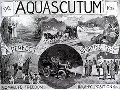 The Aquascutum ~ a perfect sporting coat. #vintage #Edwardian #menswear #coats #Aquascutum #ads