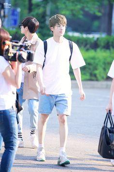 Is it me, or does Jin look like a little boy walking to school?