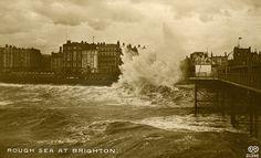 Sussex, Brighton, Rough Sea