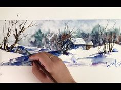 Time Lapse Watercolor Winter Snow Scene by Untamed Little Wolf - YouTube BTW, FYI, FREE Gift Here: http://www.universalthroughput.com/site2/