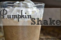 A Sweet Fall Treat! Pumpkin Shakes