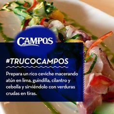 Nuevo #TrucoCampos para viajar a los sabores de Latinoamérica haciendo un ceviche en un pis-pas.
