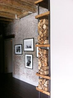 Tribeca wooden log shelf/ Reclaimed Wood Bookcase / Bookshelf/ wood storage/ Can be made to any size
