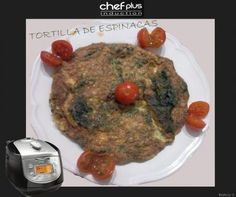 Tortilla de espinacas por Beatriz Conde. Realizada con Chef Plus Induction. #recetas