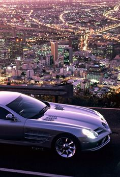 Mercedes SLR McLaren - City Lights! You definitely don't get this view in Mercedes Chelmsford