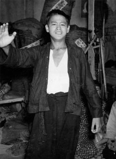 Young Bruce Lee. He looked like a rebel and a bad ass even at a young age.