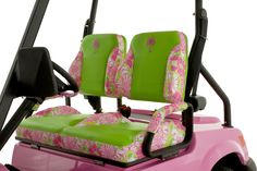 Lily Pulitzer Golf Cart.  That's it, starting my ridiculous things board with this pin.