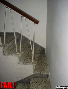 They built a wall right through the middle of the stair...   fail-owned-stairway-fail1-1.jpg image by phatcat201 - Photobucket