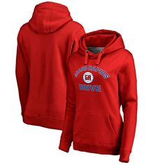 Grand Rapids Drive Fanatics Branded Women's Overtime Plus-Size Pullover Hoodie - Red - $64.99