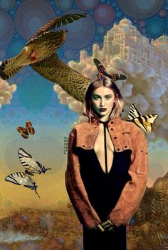 castles in the sky with butterflies