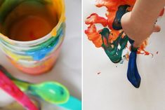 Eltern vom Mars: Spielidee der Woche: Essbare Fingerfarben