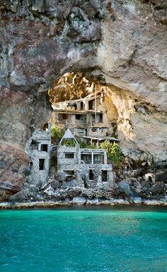 Bequia home in the rocks in Coastal Living. ☀CQ .·:*ßeÁ©]-[Ý`*:·. http://www.pinterest.com/CoronaQueen/beach-shack-~~-corona/