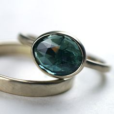 Blue Tourmaline Ring - $528.00 - via Bliss Blog - http://www.etsy.com/listing/85093794/new-years-sale-rose-cut-indicolite-blue
