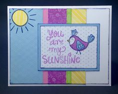 Just One Pretty Piece: SUNSHINE BIRDIES - February 2016 Stamp of the Month Blog Hop